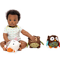 Baby with activity chime balls