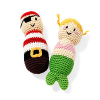Pirate and mermaid rattles
