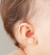Close up of baby?s ear