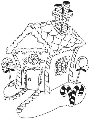 Gingerbread Houses Coloring Page