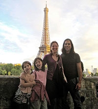 Catherine Newman and family in Paris