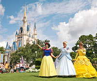 Cinderella?s castle, Belle, Cinderella, Snow White,