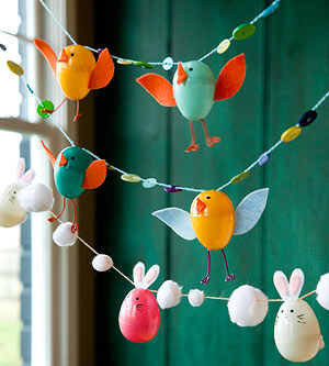 Chick Plastic Easter Egg Garland DY decorations for party celebration