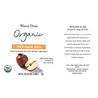 Winn-Dixie Organic 100% Apple Juice recall photo