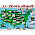U.S.A. License Plate Game