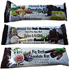 Oskri Coconut Bar Dark Chocolate, Coconut Bar Dark Chocolate Minis, Fig Dark Chocolate Bars, and Almond Dark Chocolate Bars photo