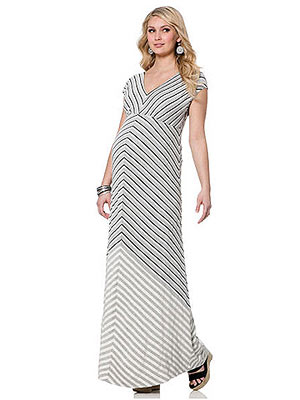 Jessica Simpson Short Sleeve Lightweight Maternity Maxi Dress