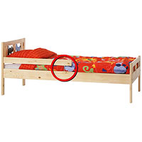 KRITTER SNIGLAR junior beds recall