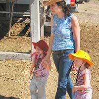 Stephanie Dolgoff and her children