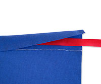 Cape with ribbon