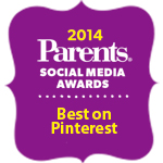 Parents.com Social Media Awards - Best on Pinterest Winner