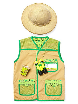 Melissa and Doug Explorer Vest and hat