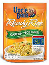 Uncle Ben's Ready Rice Garden Vegetable with Peas, Carrots, & Corn photo