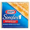 Regular Kraft American Singles Pasteurized Prepared Cheese Product photo