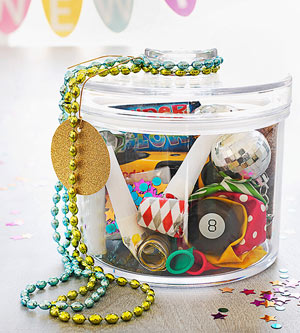 New Year?s Eve party jar