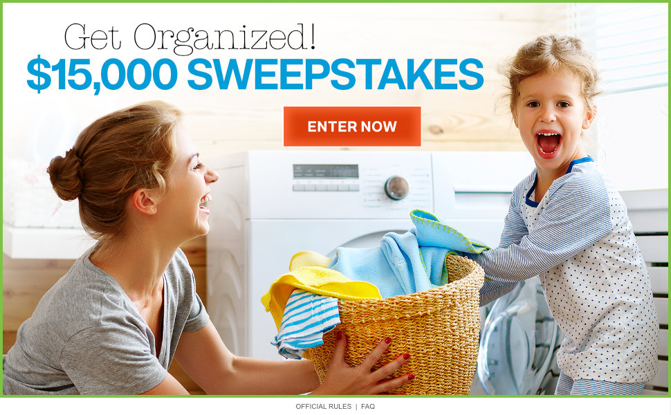 Get Organized! $15,000 Sweepstakes