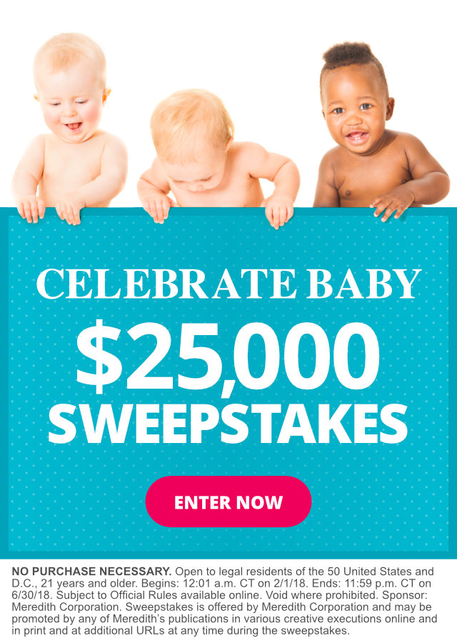 celebrate baby  25 000 sweepstakes