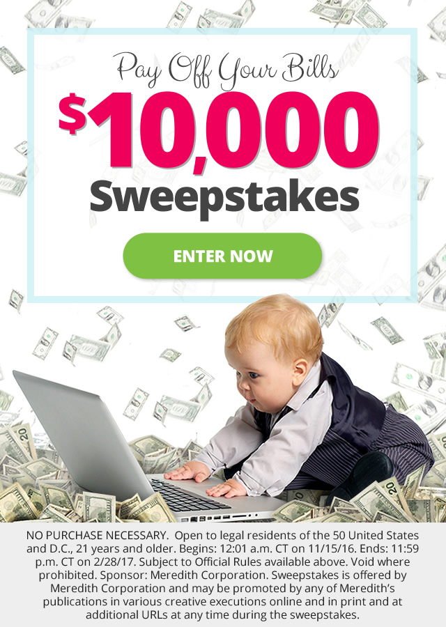 parents splash pay off your bills  10 000 sweepstakes