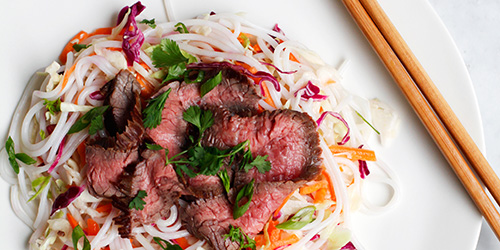 Fresh and Flavorful: Thai Steak Salad with Noodles