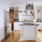 White, classical kitchen with traditional stylings