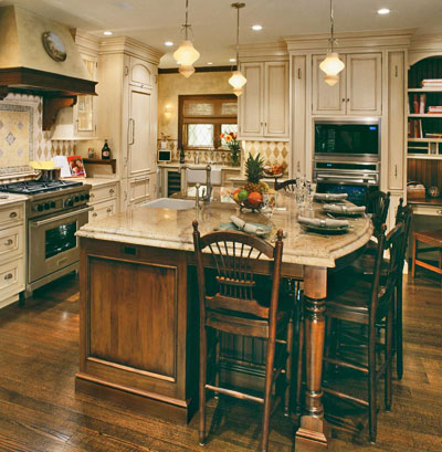 Pleased present kitchen islands design ideas stove for Center island kitchen ideas