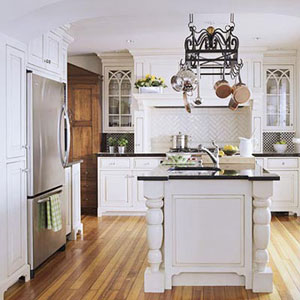 White Bathroom Cabinet on Kitchen Black Countertops White Cabinets