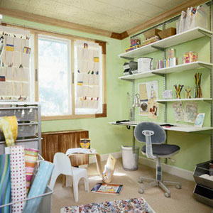 Storage-Savvy Crafts Room