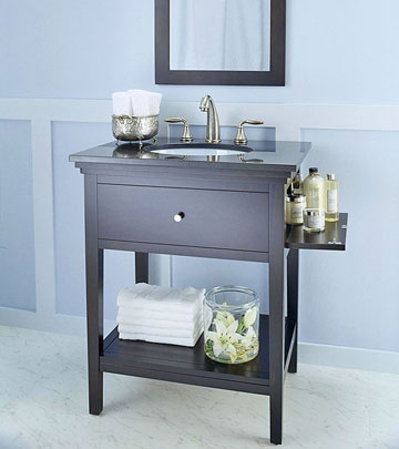 bath vanity with storage