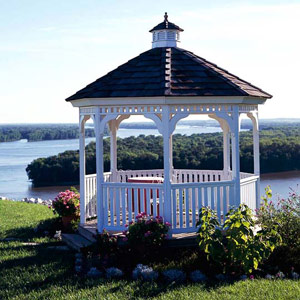 Gazebo on the water