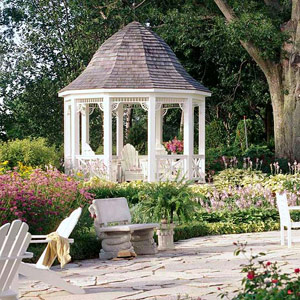 Gazebo in a secluded setting
