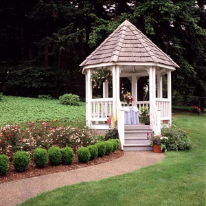 Gazebo in new yard