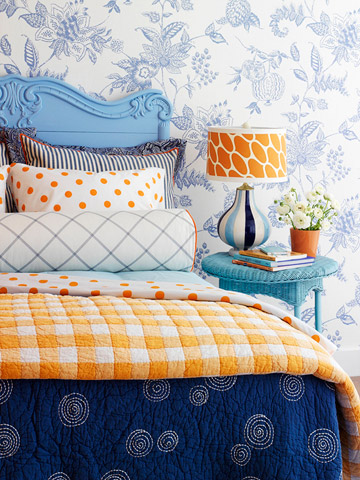 Trend Alert Navy Orange Home Stories A to Z