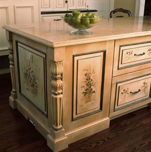Great Hand Painted Kitchen Furniture On Hand Painted Kitchen Cabinets Group  Picture Image By Tag
