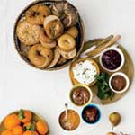 bagels and spreads