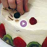 how-to-decorate-a-cake video