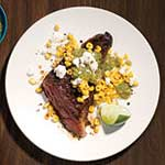 latin steak pan roasted corn salsa verde