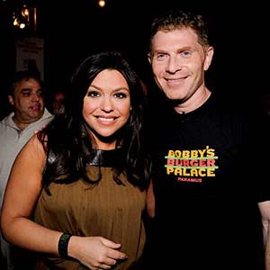 Rachel with Bobby Flay