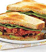 Tomato Lettuce and Avocado Sandwich