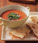 Salsa with Quesadillas
