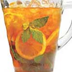 pitcher of orange drink