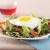 egg on top of salad