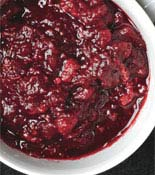 Cranraspberry sauce