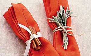 Seasonal Napkin folding