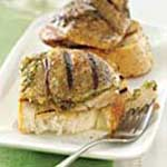 Pesto Stuffed Grilled Chicken