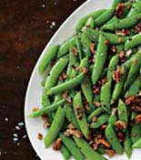 brown buttere sugar snap peas