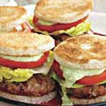 Club Burger Sliders and Avocado Ranch Dressing
