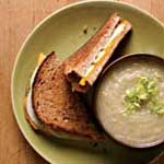 Grilled Cheddar Apple Sandwich & Creamy Parsnip Soup