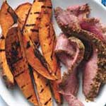 grilled flank steak sweet potato
