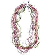 Multi color beed necklace