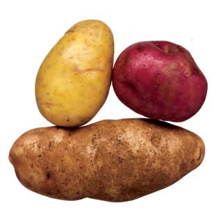 in season potatoes